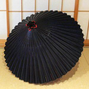 藍色 無地 和傘 蛇の目傘 Japanese umbrella