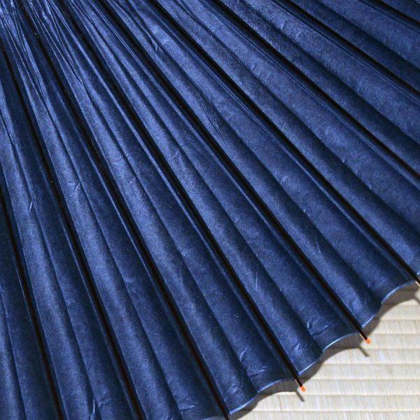 藍色 無地 蛇の目傘