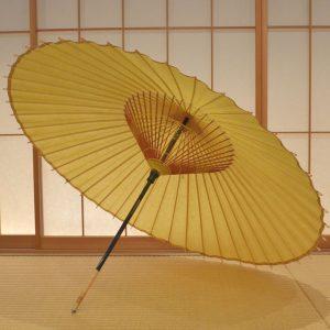 山吹色 和傘 蛇の目傘 極み 手すき和紙 草木染
