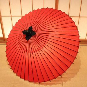 番傘 赤 緋 Japanese umbrella red