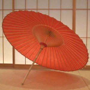 赤 緋色 番傘 極み 色番傘