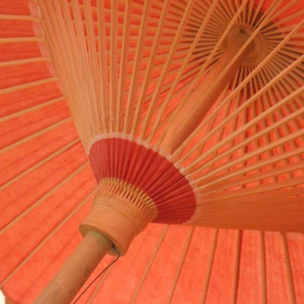 赤 緋色 番傘 和傘 色番傘 極み