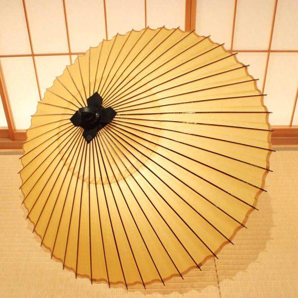 色番傘 山吹色 極み 和傘 手すき和紙 草木染 Japanese umbrella