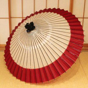 番傘 上番傘軒奴 赤と白の番傘