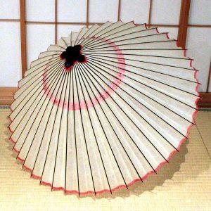 白 無地 紅 蛇の目傘 和傘 japanese umbrella