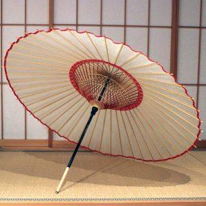 白 無地 紅置き 蛇の目傘 和傘