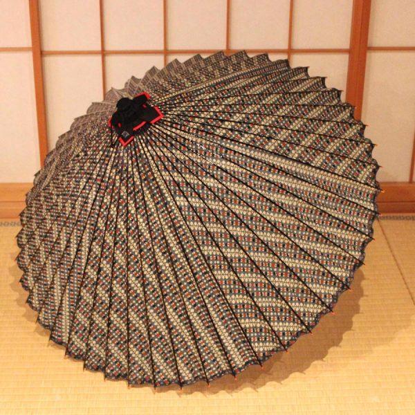 もよう和傘 蛇の目傘 型染 縞 Japanese umbrella