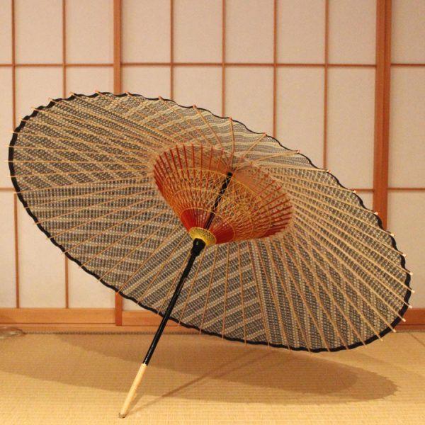 もよう和傘 蛇の目傘 型染 縞