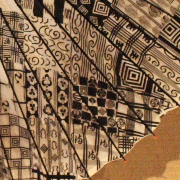 歌舞伎柄 型染 蛇の目傘 粋な和傘