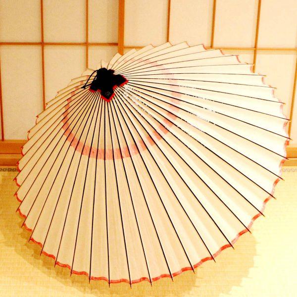 白と赤の蛇の目傘 えんむすび 辻倉 Japanese umbrella 可愛い和傘