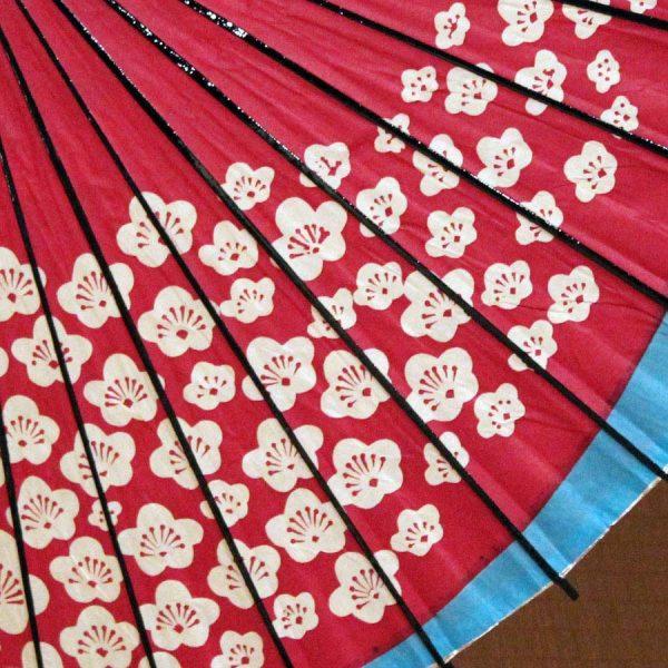 梅もよう 和傘 赤 和日傘