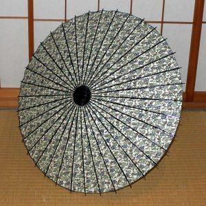 緑 蔦模様 和傘 和日傘 Japanese umbrella