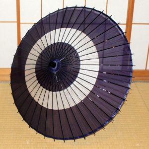 絹舞傘 紺 助六 Japanese umbrella