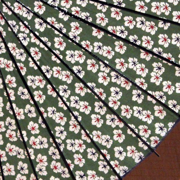 型染め和紙 もよう和傘 和日傘 緑色の日傘