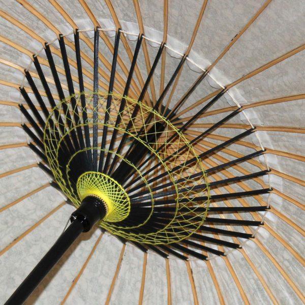 和日傘の内側 飾り糸