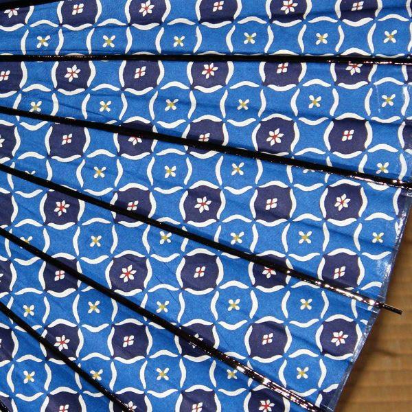 型染和紙 和日傘 青
