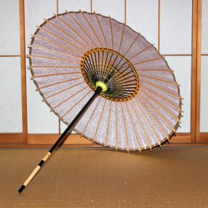 和日傘の内側 桜模様