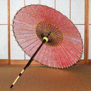 赤い和傘 日本製の和日傘 糸掛けが美しい傘 Japanese umbrella