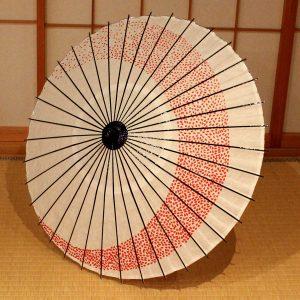 白 桜もよう もよう和傘 和日傘 Japanese umbrella Cherry blossoms