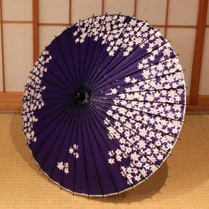 紫 楓 和日傘 もよう和傘  Japanese paper parasol japanese umbrella