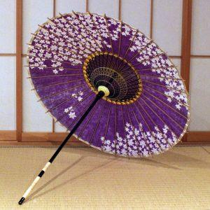 紫 楓 和日傘 もよう和傘