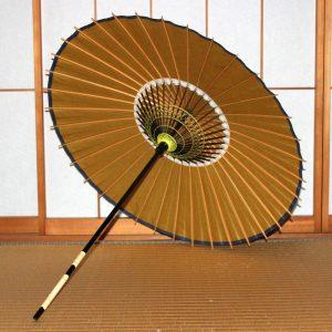 茶色 黄金色 和傘 和日傘 和日傘の内傘 Japanese umbrella