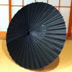 黒 無地 和日傘 和傘 日本製の和傘