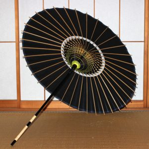 黒 無地 和日傘 和傘 Japanese paper parasol made in japan