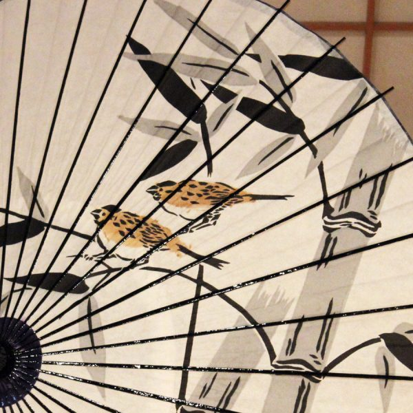 和日傘 竹に雀柄 海外の方へのギフト