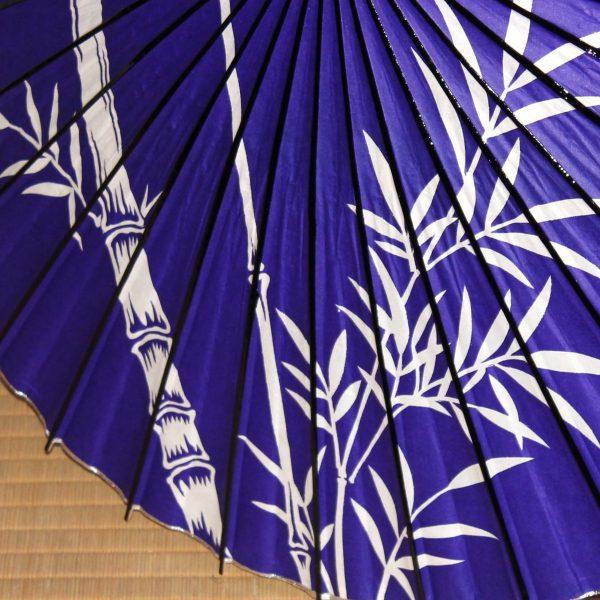 特選和日傘 紫 竹のもよう Japanese umbrella made in japan