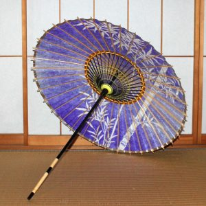 竹 紫 和傘 日傘 Japanese umbrella