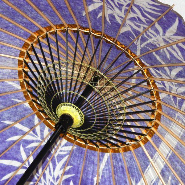 紫 和日傘の内傘 竹