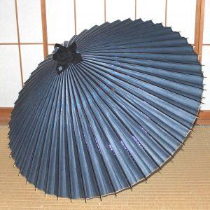 番傘 青 露草 手漉き和紙 草木染 Japanese umbrella made in japan