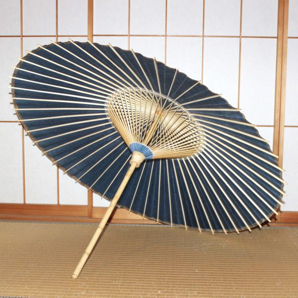 色番傘 露草色 青い和傘 Japanese umbrella  blue