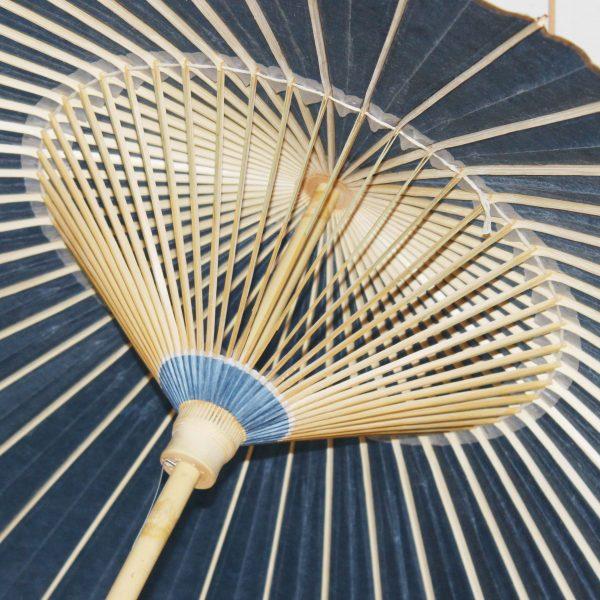 色番傘 手漉き和紙 草木染和紙 露草色の番傘