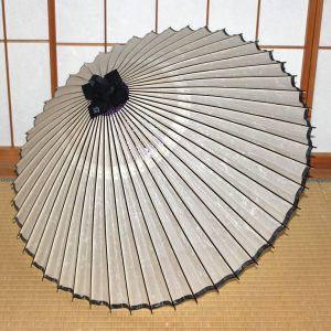 番傘 白 軒黒  Japanese umbrella made in japan