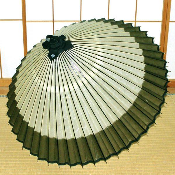 番傘 緑 軒奴 松葉 Japanese umbrella made in japan