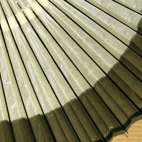 番傘 ふちが緑色の番傘