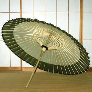 番傘 縁が緑色の番傘 Japanese umbrella