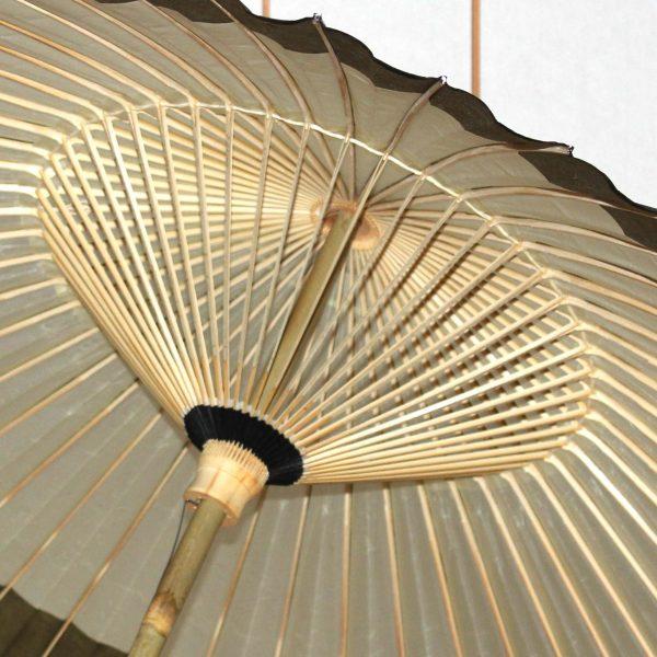番傘の中骨 番傘の内側