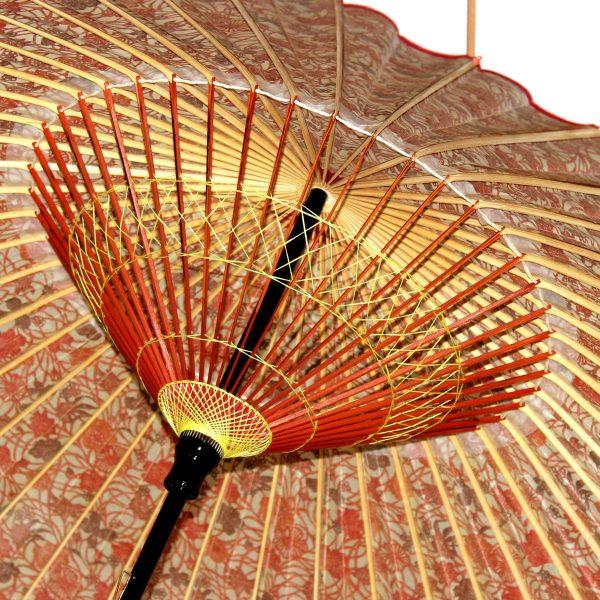 蛇の目傘の内側