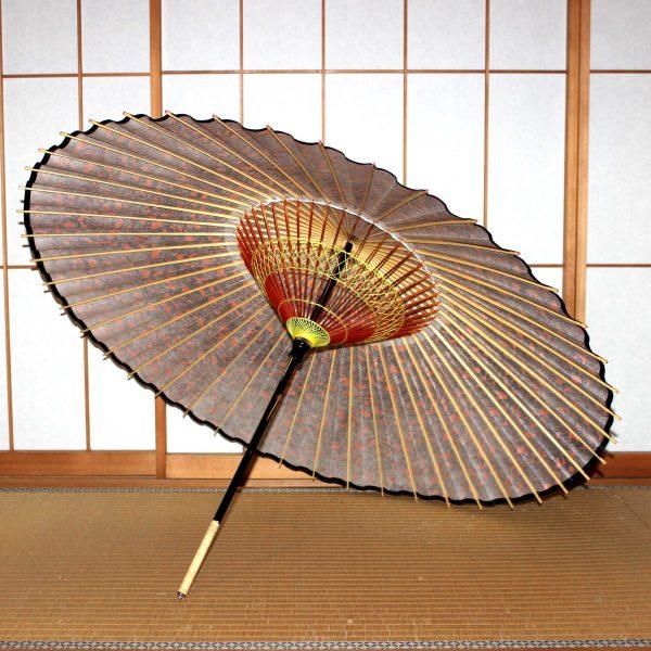 蛇の目傘の内側 もよう和傘