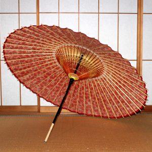 赤 もよう和傘 蛇の目傘
