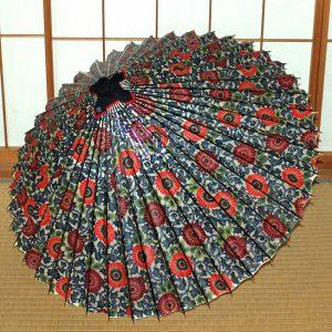 もよう和傘 菊 唐草もよう モダンな柄の蛇の目傘 Japanese umbrella