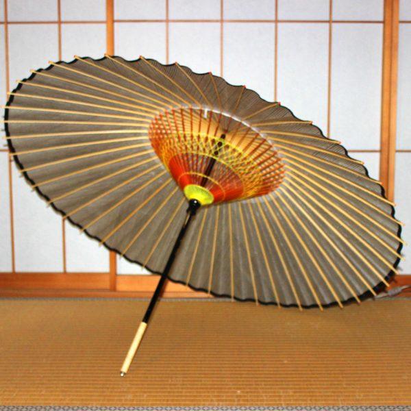 蛇の目傘の内側 薄茶色 和傘