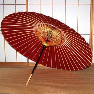 赤 和傘 蛇の目傘