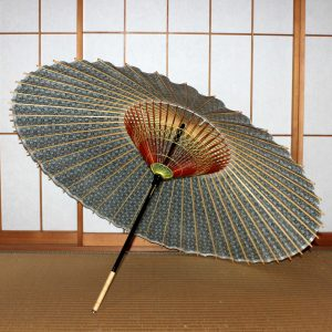 もよう和傘 型染め蛇の目傘の内側