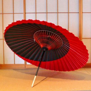 蛇の目傘 和傘 番傘 赤と黒 月奴 Japanese umbrella