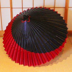 Japanese umbrella 赤と黒 和傘 蛇の目傘 番傘