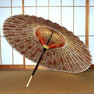 もよう和傘 蛇の目傘の内側